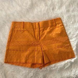 Loft marigold eyelet shorts
